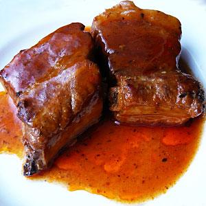 Тушеные свиные ребрышки рецепт с фото