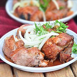 Шашлык из свинины на минералке - фото