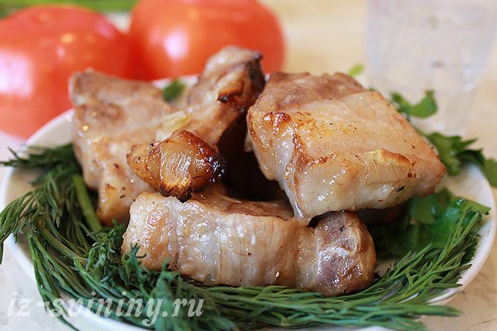 Итоговое фото шашлыка из свинины отмоченного в винном маринаде
