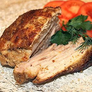 Свинина  с горчицей в фольге - фото