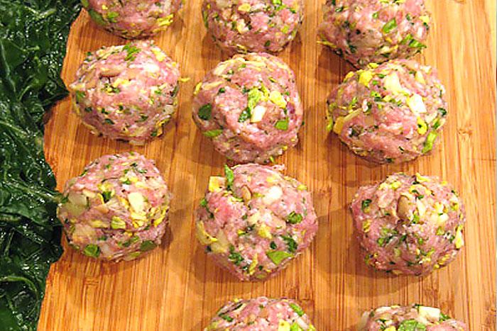Свиные фрикадельки для долмы - фото