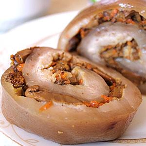 Сало запеченное в духовке в фольге с грибами - фото