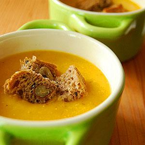 Суп из тыквы и бекона - фото