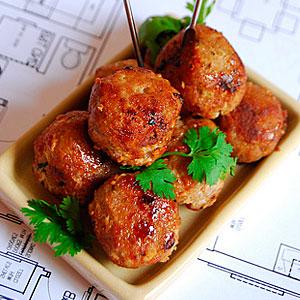 Азиатские фрикадельки из свиного фарша - фото