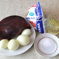 Подготовим продукты для печеночного бефстроганова со сметаной - фото