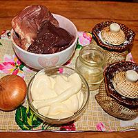 Ингредиенты для жаркого в майонезе - фото