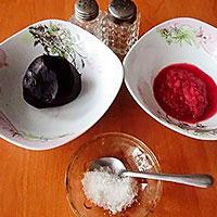 Ингредиенты для свекольного соуса