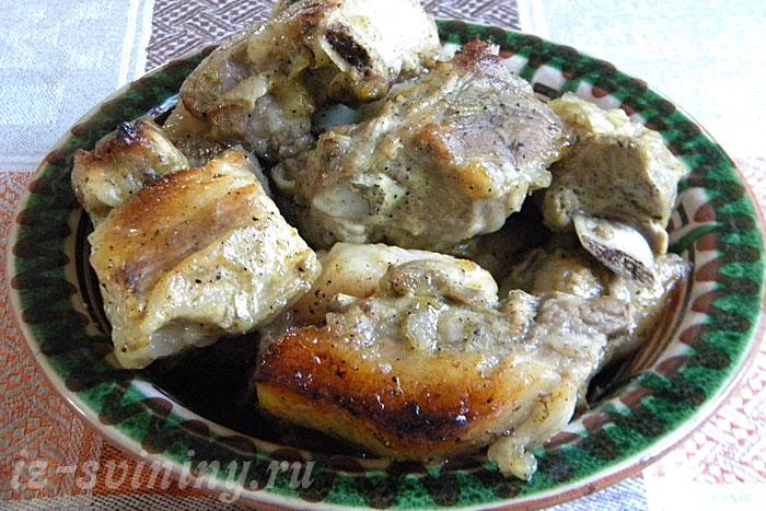 Готовые свиные ребра в медово-горчичном соусе