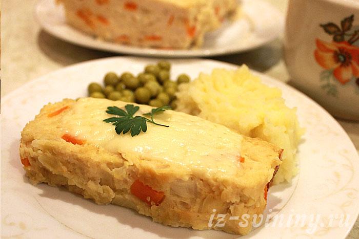 Итоговое фото мясного хлеба сделанного в духовке