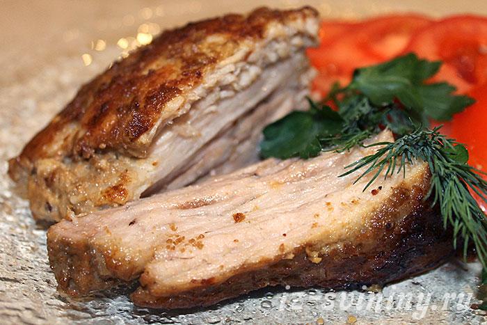 Запеченная в горчице свинина в духовке - итоговое фото